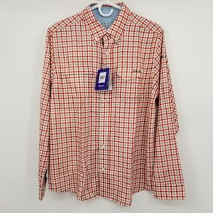 NWT Huk Tide Point Woven Plaid Long Sleeved Shirt